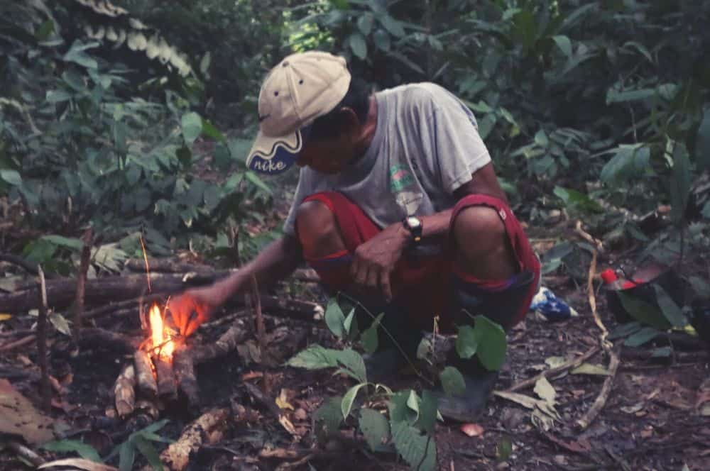Leticia Night in the jungle Making Fire