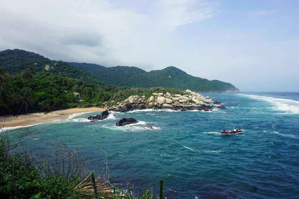 Rough sea Tayrona