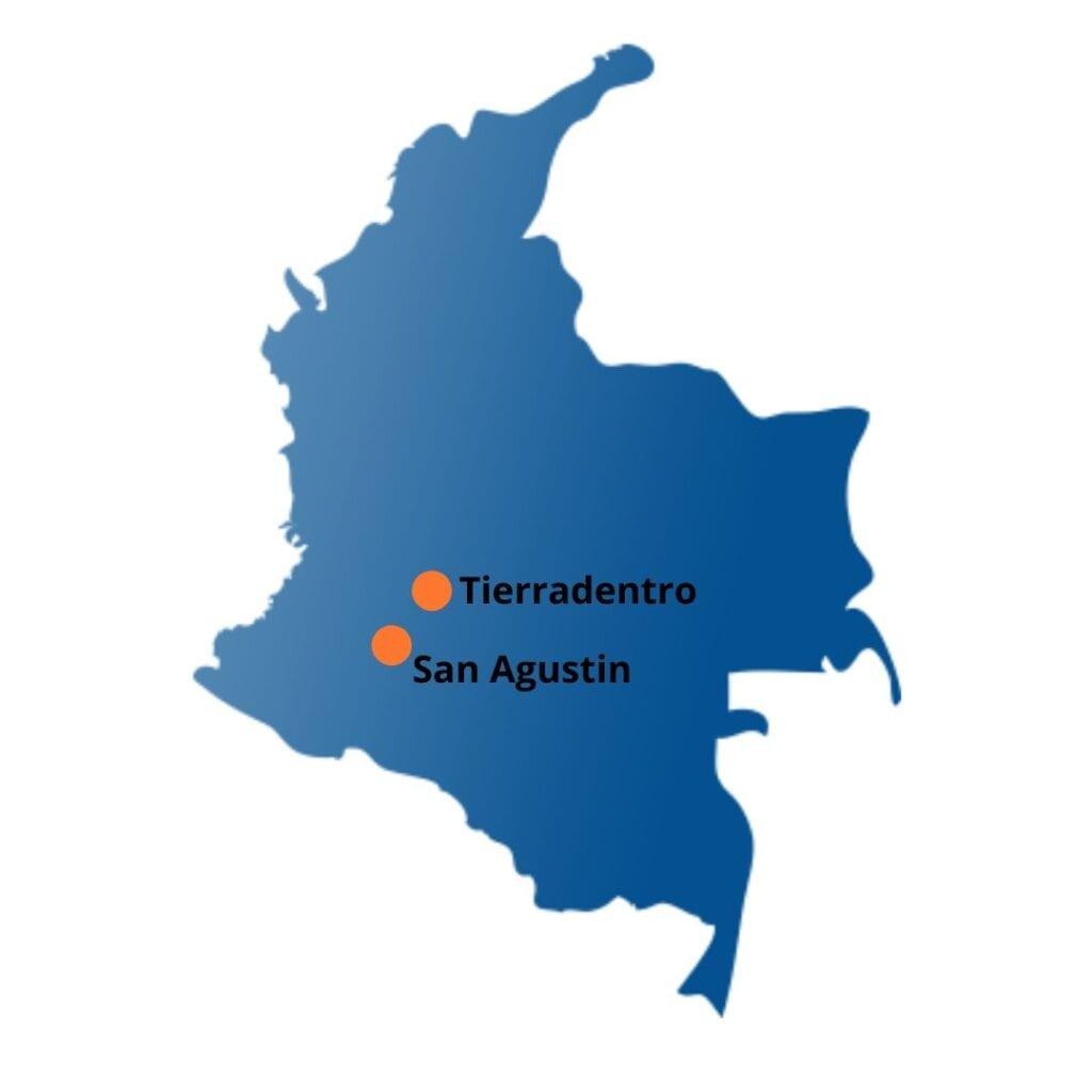 Site Archéologiques Carte de la Colombie