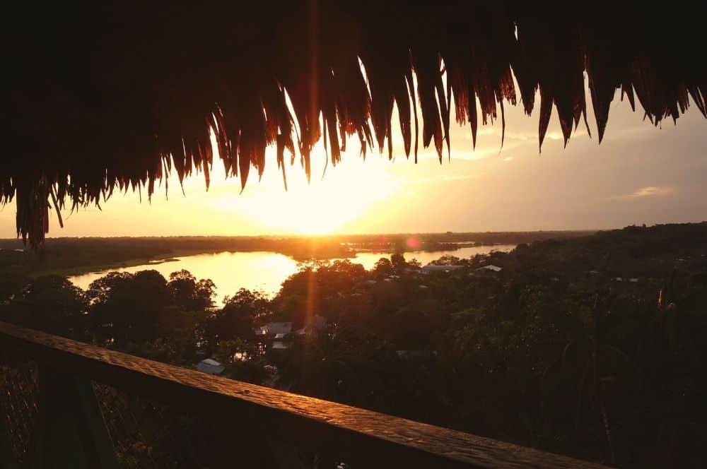 Sunset Puerto nariño amazon