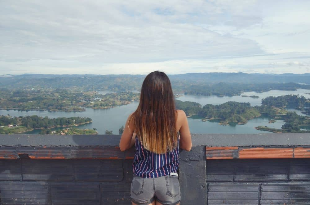 The view from El Peñol Guatape