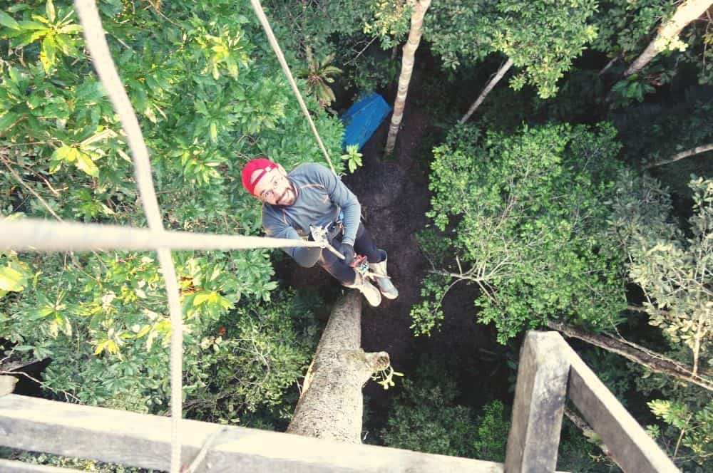 Tree house climbing Leticia
