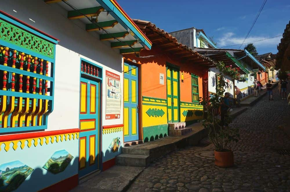Colorful street Guatape