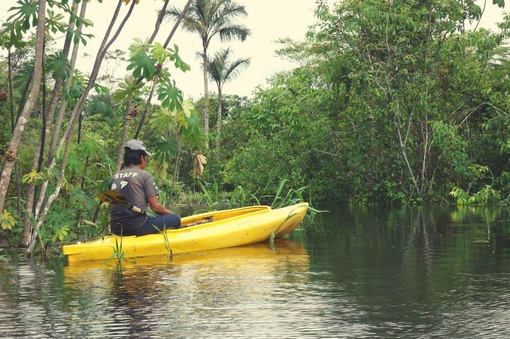 kayak on the Amazon river Leticia