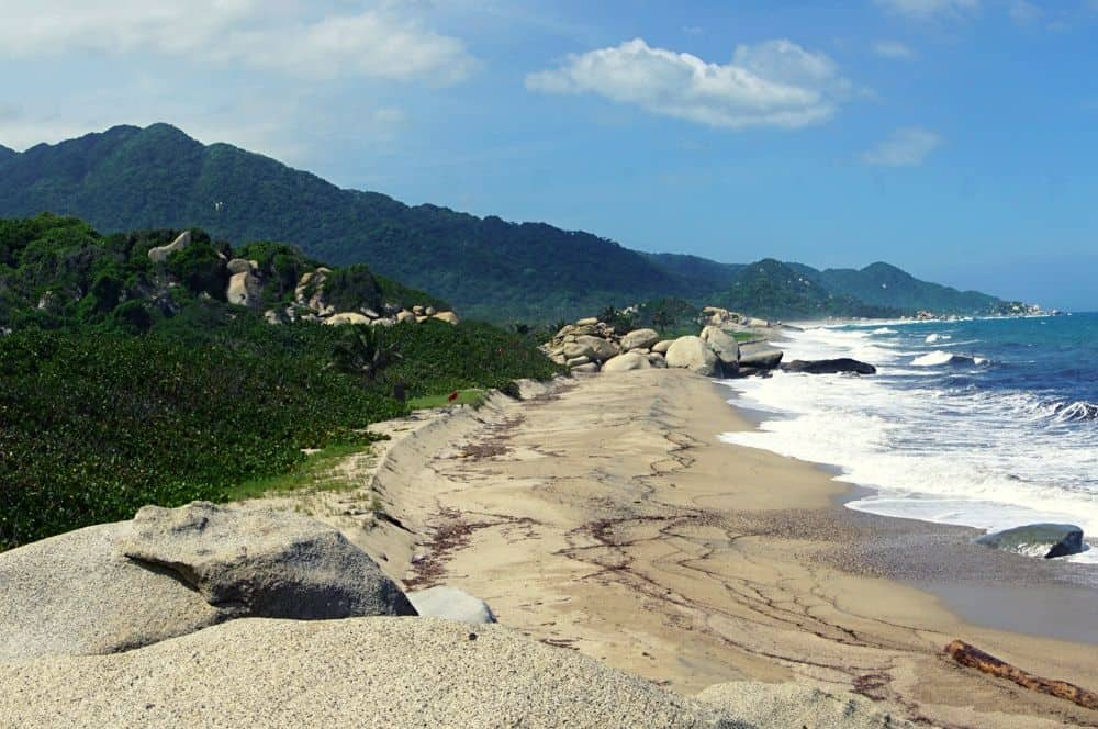 walk along the beach Tayrona