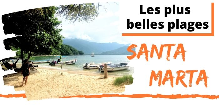 Belles plages Santa Marta, Colombie
