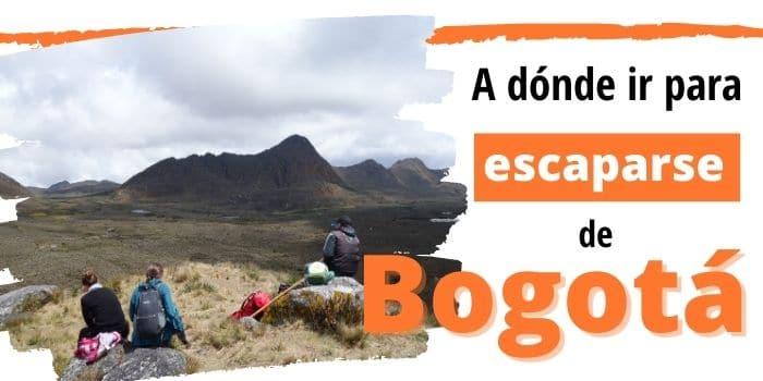 Lugares turísticos cerca de Bogotá